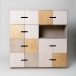 Radis sideboard PIX 4x4 pebble grey oilwaxed doors white oak pebble grey oilwaxed